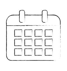 isolated calendar design vector image