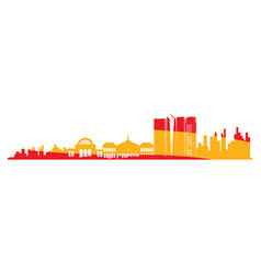 Isolated cityscape of madrid vector