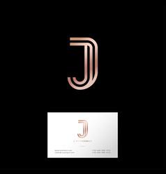 J letter monogram web business card vector