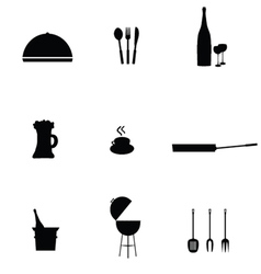 Kitchen accessories black vector