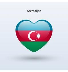 Love Azerbaijan symbol Heart flag icon vector
