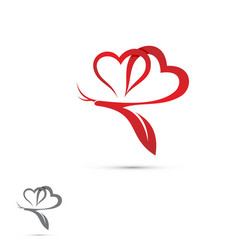 love butterfly vector image