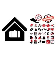 Luggage room flat icon with bonus vector