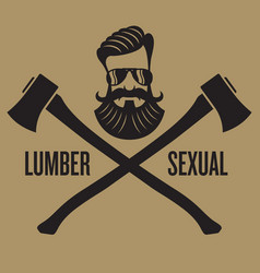 lumbersexual hipster design vector image