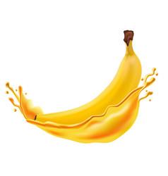 mango juice fresh fruit 3d icon vector image