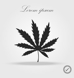 marijuana leaf icon or cannabis icon vector image