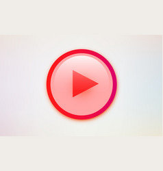 modern red play button on white background vector image