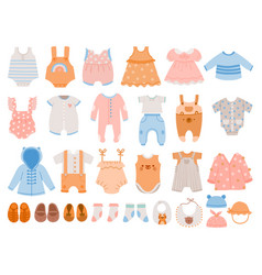 newborn clothes baby apparel for boys and girls vector image
