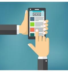 News app on smartphone screen vector