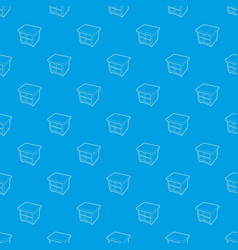 nightstand pattern seamless blue vector image