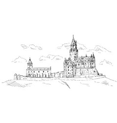 Old medieval castle vector