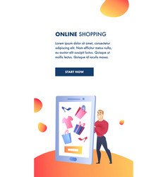 online shopping website element template vector image