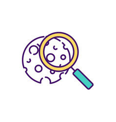 osteoporosis prevention rgb color icon vector image