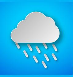 paper art rain icon vector image