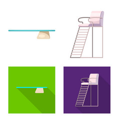 Pool and swimming logo set vector