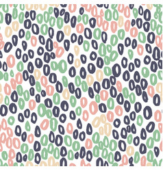Seamless abstract pattern with rounds on vector