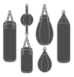 Set of with boxing pears vector