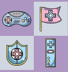 set videogame technology activity to recreation vector image