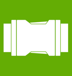 Side release buckle icon green vector