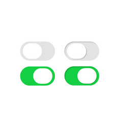 Slide or toggle buttons set flat switch vector