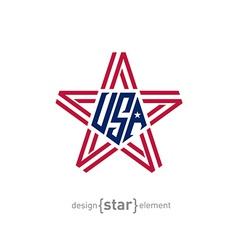 Star with american flag colors Abstract design vector
