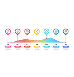 step infographic option timeline diagram vector image