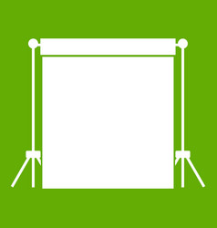 Studio backdrop icon green vector