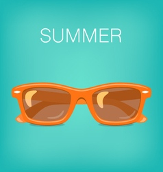 Summer Background with Glasses vector image