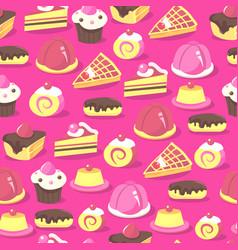 Sweet treats seamless pattern background vector