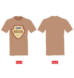 T-shirts with free beer tonight vector