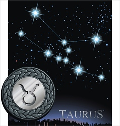taurus zodiac sign bull logo vector image