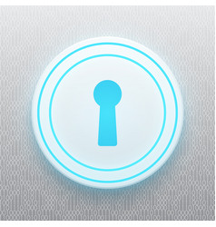 Technology digital cyber security keyhole circle vector