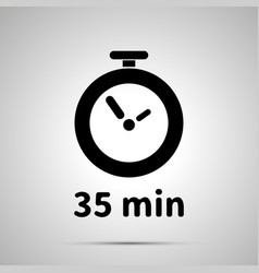 thirty five minutes timer simple black icon vector image