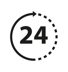time 24 icon vector image