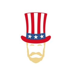 uncle sam portrait 4th july independence day vector image