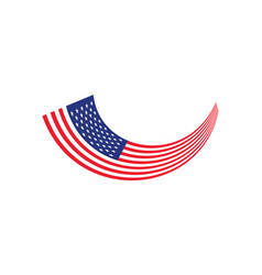 united states flag long vector image