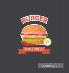 Vintage fast food burger set posters retro burger vector