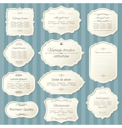 Vintage frame set Calligraphic design elements vector