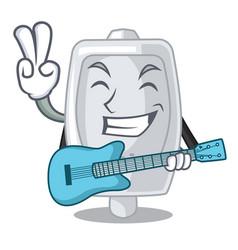 With guitar urinal in the a cartoon bathroom vector