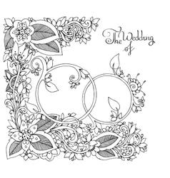 Zen Tangle Wedding rings in vector