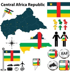 Central Africa Republic map small vector image