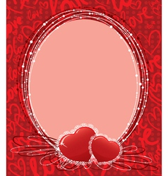 cute valentines border vector image vector image