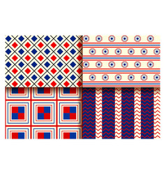 seamless pattern for fourth of july background for vector image vector image