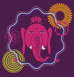 spring meditation Ganesh poster vector image vector image