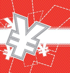yen money icon background vector image vector image