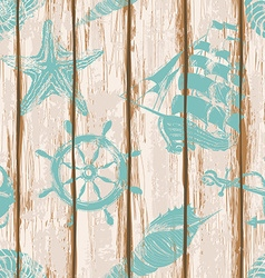 Boards of ship deck seamless pattern vector image vector image