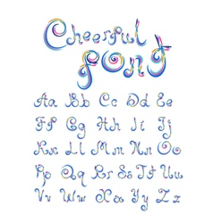 Cheerful font vector image