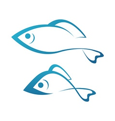 Golden Fish and Grayling vector image vector image