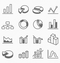 Graph outline stroke symbol icons vector image vector image