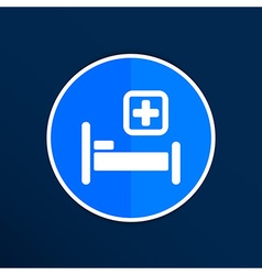 Hospital bed and cross icon doctor health care vector image vector image